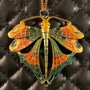 Vintage Lisner Art Nouveau Butterfly Necklace
